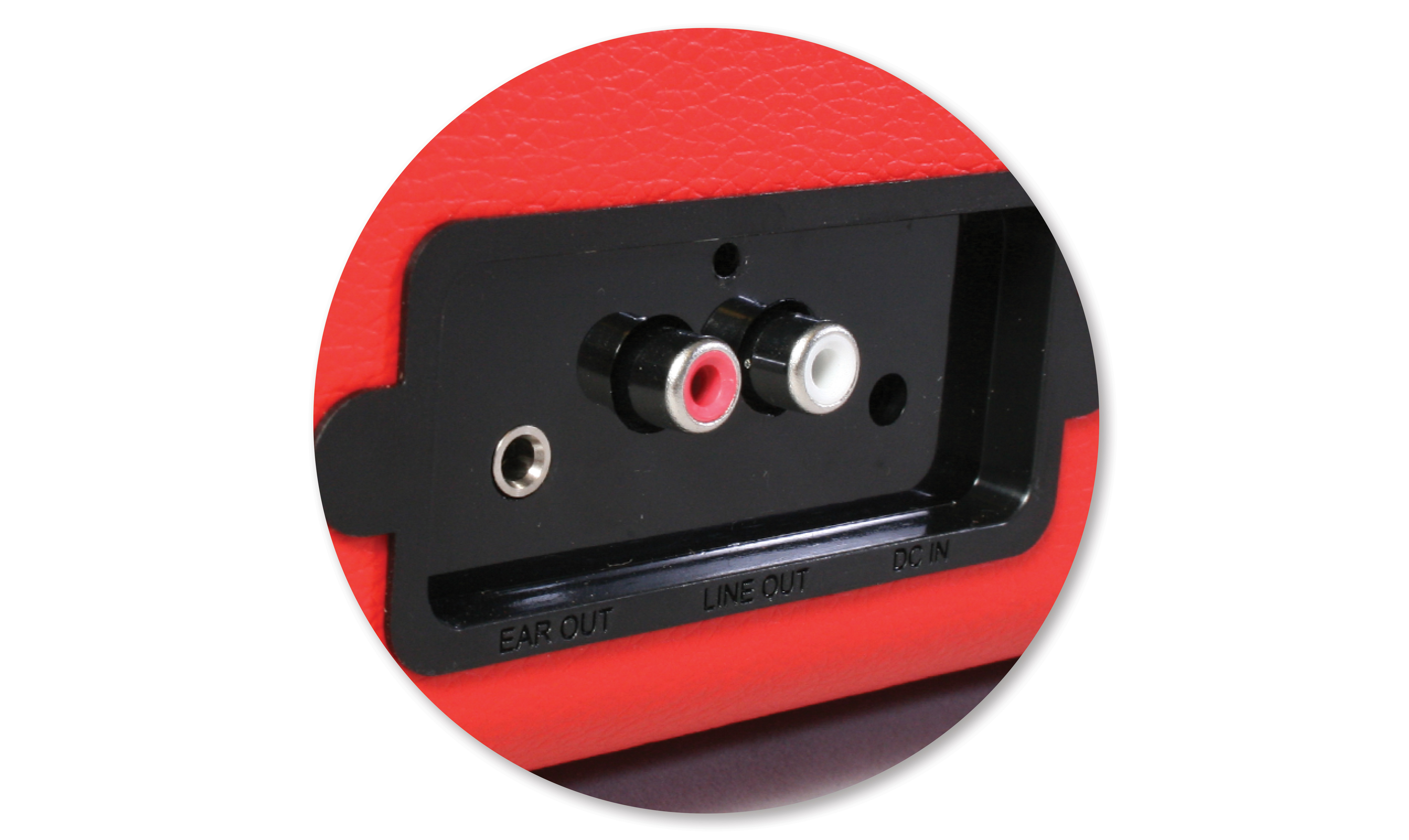 Vinyl Styl Groove Portable 3 Speed Turntable Red
