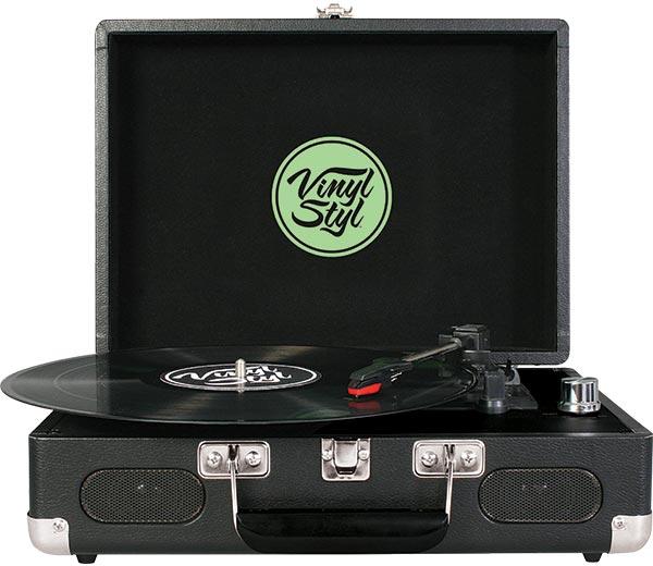 Vinyl Styl Groove Portable 3 Speed Turntable Leaf